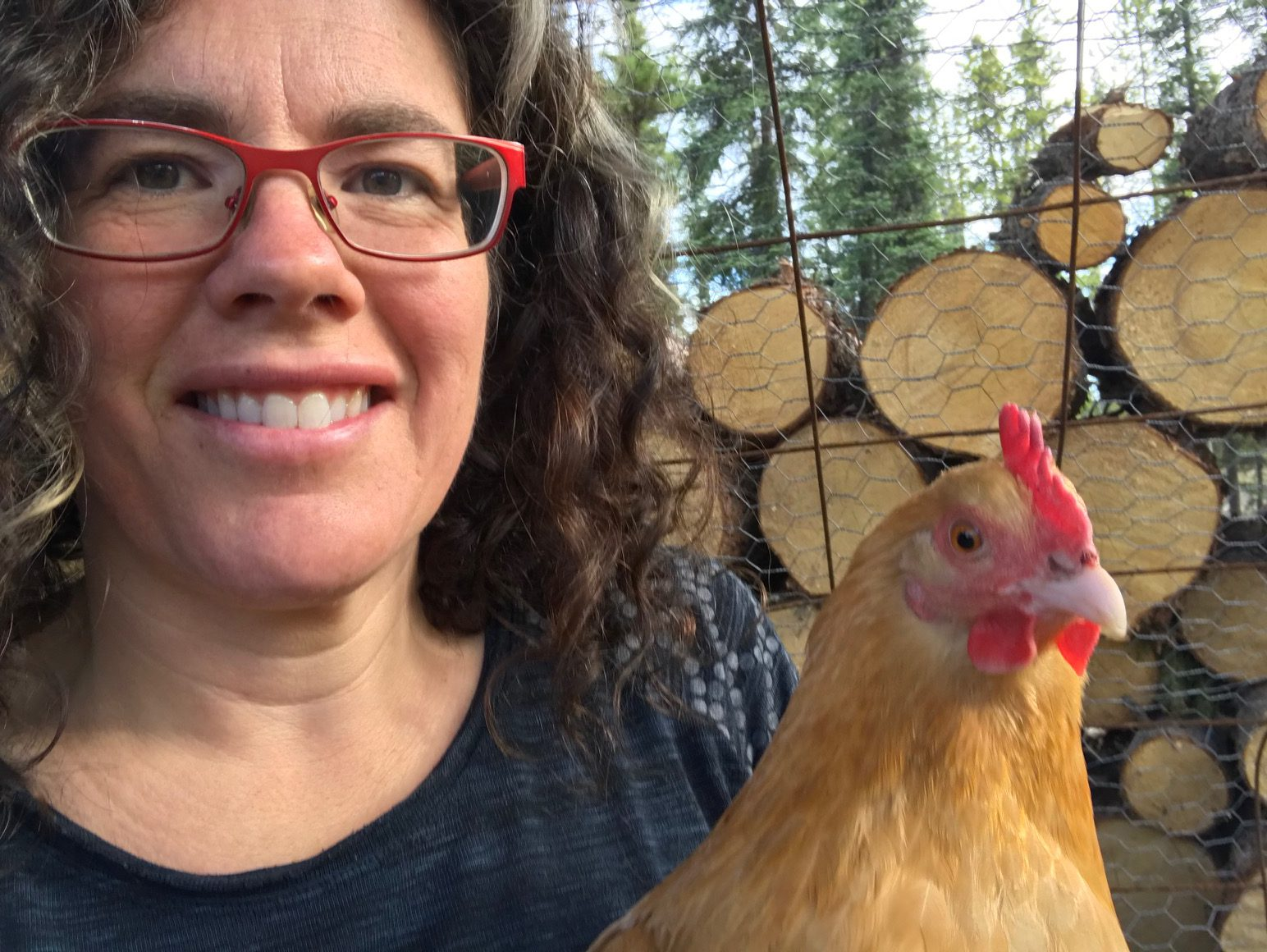 Heidi + chicken